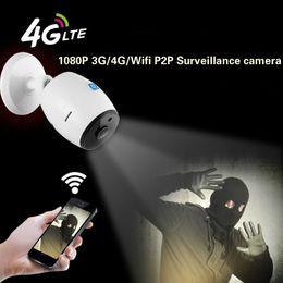 3g cartão sim sem fio Desconto 1080 P 4g sim card wifi câmeras IP 2MP P2P câmeras de rede sem fio em dois sentidos de áudio fisheye IR visão 3g 4g fio livre CCTV câmera