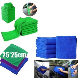 Wholesale Car Hand Wash - Free Shiping 25*25cm Microfiber Towel Quick Dry Soft Auto Car Wash Cloth Dust Cleaner Kitchen Cleaning Water Absorbent