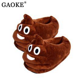 Wholesale Pvc Children Slippers - Lovely Emoji Valentine Gift Poo Plush Slippers Expression Men Women Home Slipper Children Shit Warm House Smiley Emoticon Shoes