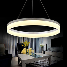 Wholesale Led Fishing Black Lights - Nordic Circular Acrylic Pendant Lamp Postmodern Fashion Bedroom Fish Line Restaurant Chandelier for Meeting Room Study Lamp