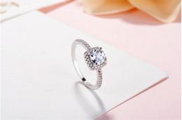 обручальные кольца с бриллиантами Скидка Настоящее стерлингового серебра 925 пробы CZ Diamond RING с логотипом оригинальной коробке Fit Pandora стиль 18 К золотое обручальное кольцо обручальные украшения для женщин