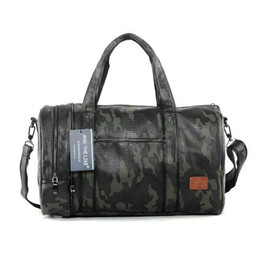 Wholesale Man Hand Bag Brand - Factory wholesale brand men's bag Camo high-capacity portable satchel leisure travel bag Korean fashion camouflage leather hand bag