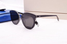 Wholesale Gm Set - 2018 new designer GM Black peter V-sunglasses UV400 imported pure-plank +metal goggles full-set case OEM factory outlet price freeshipping