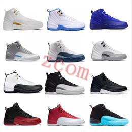 best sneakers 67498 7e1c2 kostenloses taxi Rabatt 2018 Mens Basketball Schuhe 12 12s TAXI Playoff  BLACK Grippe Spiel Kirsche 12s