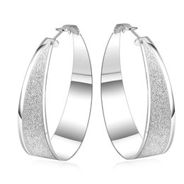polish jewelry brands Coupons - Dull Polish Big Round Design Creole Hoop Earrings for Women Silver Plated Large Earring European Brand Fashion Jewelry Gift 2017