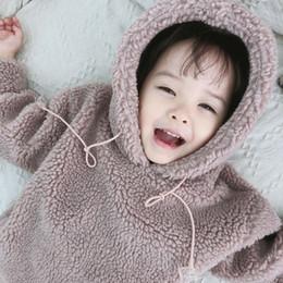 Sombrero de niña estilo coreano online-Ventas calientes Versión coreana Nuevos estilos Niños en otoño e invierno Chicas con sombreros Cordero y lana y ropa de abrigo