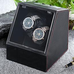 cas silencieux Promotion 2017 New Watch Box Automatique Montre Winder Auto Silent Enrouleur Transparent Couverture Display Case Montre-Bracelet Boîtes Titulaire