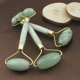 Wholesale Jade Rollers Wholesale - Natural Jade Roller Face Thin Massager Jade Facial Beauty Massage Tool Body Relax Tool