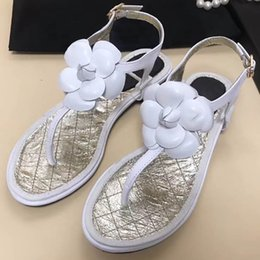 Wholesale comfort flip flops - 2018 Hot Sale New Fashion Shoes & Accessories Women Sandals Beaded Ladies Flip Flops Bohemia Woman Shoes Comfort Beach Summer Flat Sandals