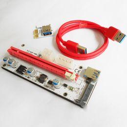 2019 adapterkabel gleichstrom HOT 60 cm PCI-E Express 1X Bis 16X Extender Riser Karte Adapter USB 3.0 LED SATA 6 Pin Stromkabel DC-DC Für Bergbau XXM8 OTH810 günstig adapterkabel gleichstrom