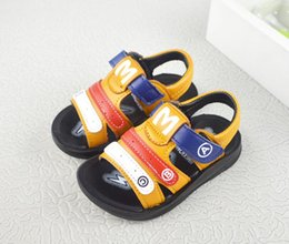 Wholesale leather bow flats - Boys Sandals Leather Soft Sole comfortable Lovely Colorful Buckle Strap Flat Footwear shoes