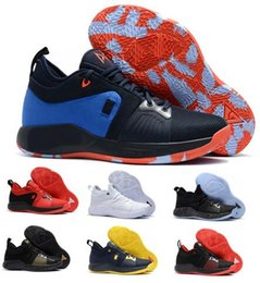 Wholesale Playstation Black - 2018 PG 2 Basketball Shoes Men Black Paul Georges PG 2 II Playstation Eybl Elements Mamba Mentality Replicas Sprot Shoe Sneakers size 7-12