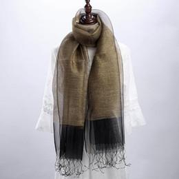 Nuevo mantón de otoño protector solar bufanda delgada Playa Adorno de playa Eugen seda real bufanda de seda venta caliente desde fabricantes