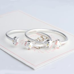 6c842b549 Sterling Siilver 925 New Fashion Hot Hello Kitty Bracelet Charm Bracelet  For Children Or Female Personality Jewelry Bracelets