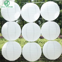 chinese lantern festival decorations Promo Codes - lantern chinese 10pcs White Chinese Round Paper Lanterns 10cm-40cm Hanging Lamps Festival Home Wedding Decoration Party supplies lantern
