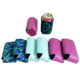 neoprene can Coupons - 10*13cm New Mermaid Slim Can Sleeves Neoprene Beverage Coolers Beer Cup Cover Housekeeping Storage Organization W7348