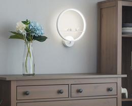 lampade da camera di principessa Sconti Camera da letto della lampada da parete creativa della parete di Bedsidewall semplice illuminazione moderna della ragazza Lampada da parete del salone della stanza dei bambini della principessa