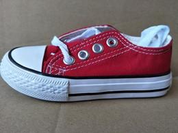 Sapatas do gramado on-line-Nova marca miúdos sapatos de lona alta moda - sapatos baixos Tamanhos de meninos e meninas de esportes de lona calçados infantis 24-34