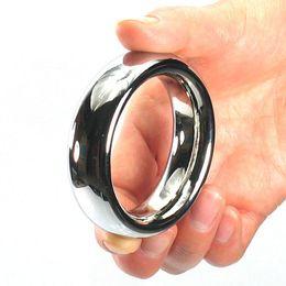 2019 pênis de spray Top aço inoxidável anel do pénis 40/45/50 mm heavy metal galo anéis atraso ejacular spray penisring cockring brinquedos sexuais para homens Y1892804 desconto pênis de spray