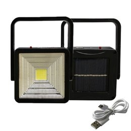 Wholesale rechargeable lamps - 2W Rechargeable Portable Solar LED Flood Light Outdoor Camping Emergency Lamp USB Charging