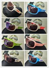 Wholesale Sunglasses Mtb - 4 lens 2018 POC sunglasses polarized Cycing Eyewear Men Women Goggles Gafas cicismo Sport Bicycle Mountian do blade MTB Sport bike glasses