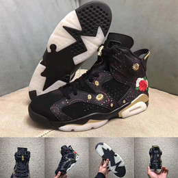 Wholesale Chinese Canvas Sneakers - 6 CNY Chinese New Year mens basketball shoes high quality sneakers 6s size eur 41-47