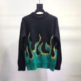 Pullover-Vlies-Art- und Weisefrauen-Paare der 2018 PRD-Flammenstrickjacke DOUBLET-Pullover-Oberbekleidung-Sonnenuntergang geben Schiff frei von Fabrikanten