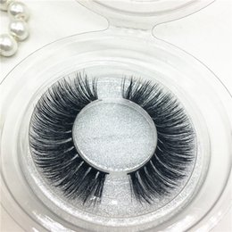 Wholesale Big False Eye Lashes - New 100% 3D Mink False Eyelashes Natural Long Crisscross Thick Messy Soft Fake Lashes Beauty Makeup Fashion Lashes Eye Big Tool