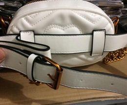 Wholesale Designer Name Bags - 2018 new designer name leather waist bags women men letter shoulder bags Belt Shoulder Bag Women Bags Handbags SIZE18X12X6CM