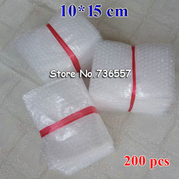 klare plastikblasen Rabatt 100*150mm Plastic Wrap Envelope white Bubble packing Bags PE clear bubble bag Shockproof bag double film 200PCS