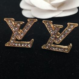 diamante opale nero Sconti 2018 fashion designer di orecchini di metallo caldo per creare orecchini di cristallo eleganti orecchini di marca di lusso signore spedizione gratuita