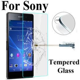 Argentina Cristal templado de dureza HD 9H para Sony Xperia Z3 Z3 Z2 Z4 M2 M2 M4 M4 M4 Protector de pantalla transparente de alta calidad Cristal en M4 Aqua supplier xperia z glass screen protector Suministro
