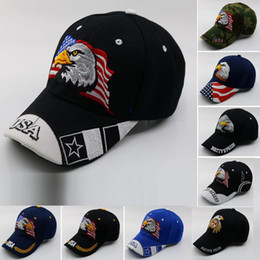 0ac1aff3f73 Black Cap USA Flag Eagle Embroidery Baseball Cap Snapback Caps Casquette  Hats Fitted Casual Gorras Dad Hats For Men Women