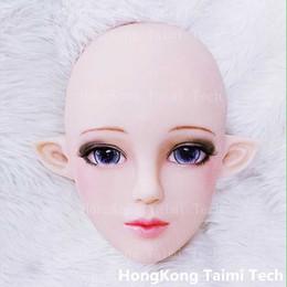 silikon menschliche gesichtsmaske Rabatt Cute Japan Anime Girl Maske Animation Zeichen Menschliches Gesicht Cosplay Maske Schöne Masken Silikonbild 3D Zeichentrickfiguren