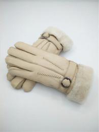 Free Shipping - High Quality Women Wool Gloves Winter Fashion Warm Gloves Genuine Leather women Fashion Gloves de Fornecedores de utensílios de cozinha