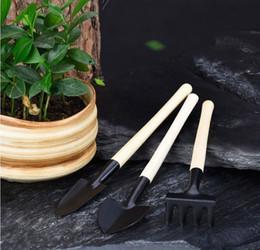camping rucksackschaufeln Rabatt Mini-set outdoor bonsai eisen werkzeuge handgemachte pflanze pflanzen blume Spaten / schaufel garten handwerkzeuge dreiteilige