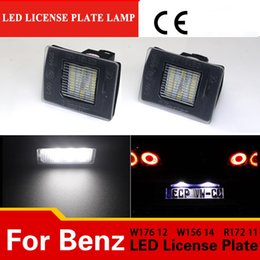 2019 сигнальная лампа Замена 1 пара светодиодные номерного знака свет для Benz W117 W176 W156 W218 R172 W166 X166 зарегистрированы номерного знака лампа дешево сигнальная лампа