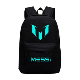 Teenagers for Boys Messi Night-luminous sport Bags Galaxy School Bag For  Kids Gift Fans Backpack 536b4df024907