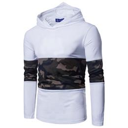Мужские рубашки онлайн-Эластичный хлопок камуфляж сетка ткань сращивание мужская cap assassin с длинными рукавами футболки