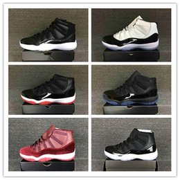 Wholesale Plastic Gym - Cheap Bred Concord Space Jam 11 Retro Shoes Men Gym Red 72-10 Trainers Sneakers With Boxes Size US7--12 Hot Sale