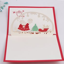 Mão que faz cartões on-line-Feliz Natal 3d Originalidade Carimbar De Papel Oco Mão Pura Feita Bless Cards Presentes Eco Friendly 3 7xd jj