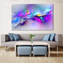 schwarze weiße gemälde lieben Rabatt JQHYART Wandbilder Für Wohnzimmer Abstrakte Ölgemälde Wolken Bunte Leinwand Kunst Wohnkultur Kein Rahmen