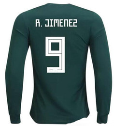 Wholesale long sleeves jersey - Mexico Cheap 18-19 long sleeve Thai Quality Soccer Jerseys shirts,Customized 14 J.Hernandez Chicharito 10 G.DOS SANTOS 9 R. Jimenez wear