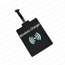 Wholesale Qi Wireless Receiver Iphone - Qi Wireless Power Charger Receiver Film Wireless Charger Charging Receiver Module Sticker for Apple IPhone 5 5s 6 Plus Samsung LG HTC