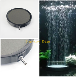 Wholesale fish air stone - 10cm 13cm 20cm Aquarium Ceramic Disc Airstone Diffuser Koi Fish Tank Air Bubble Stones Aerator Pump Accessories