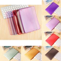 nouveaux étuis arrière Promotion Nouveau Candy Color Crystal Clear Transparent Soft TPU Housse de protection pour iPad 2 PCC077