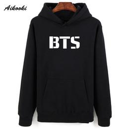 Wholesale male pop - Aikooki Hot Kpop BTS Sweatshirt Hoodies Men Pullovers Women Hooded Winter Casual K-pop BTS Shirts Cap Jumpers For Male Female