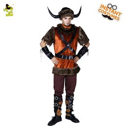 clothing for pirates Coupons - 2018 New Arrival Viking Pirate Costume Halloween Party Masquerade Party Cosplay Viking Clothing Hot Sale Pirate For Adult Man