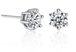 Canada Nouvelle arrivée mode CZ diamant boucles d'oreilles en or 18 carats plaqué or blanc cristal bijoux boucles d'oreilles pour hommes et femmes Offre