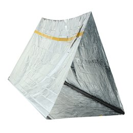 wholesale survival tent Promo Codes - 240 x 150 x 90cm 2 Persons Tube Tent Emergency Survival equipment Hiking Camping Shelter Outdoor Thermal Insulation